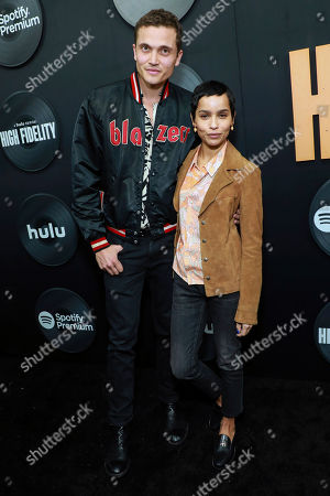 """Stock Picture of Karl Glusman and Zoe Kravitz attend the premiere of Hulu's """"High Fidelity,"""" at Metrograph, in New York"""