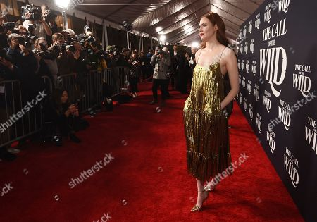 "Karen Gillan, a cast member in ""The Call of the Wild,"" arrives at the premiere of the film at the El Capitan Theatre, in Los Angeles"