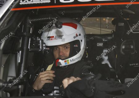 Prince Carl Philip in the car with French driver Sebastien Ogier at the opening ceremony of Rally Sweden 2020 in Karlstad