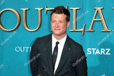 "Ed Speleers arrives at the Los Angeles Premiere of ""Outlander"" Season 5 at the Hollywood Palladium, in Los Angeles"