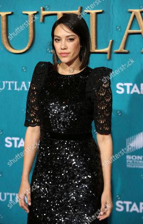 "Mishel Prada arrives at the Los Angeles Premiere of ""Outlander"" Season 5 at the Hollywood Palladium, in Los Angeles"