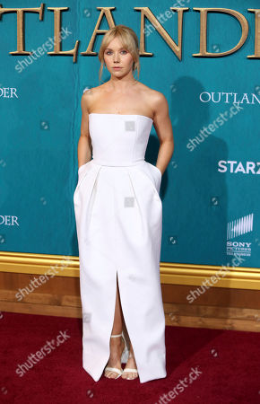 """Lauren Lyle arrives at the Los Angeles Premiere of """"Outlander"""" Season 5 at the Hollywood Palladium, in Los Angeles"""