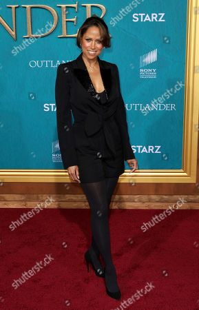 """Stacey Dash arrives at the Los Angeles Premiere of """"Outlander"""" Season 5 at the Hollywood Palladium, in Los Angeles"""