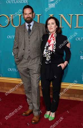 """Duncan Lacroix, Maria Doyle Kennedy. Duncan Lacroix, keft, and Maria Doyle Kennedy arrive at the Los Angeles Premiere of """"Outlander"""" Season 5 at the Hollywood Palladium, in Los Angeles"""