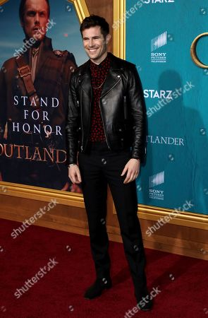 """David Berry arrives at the Los Angeles Premiere of """"Outlander"""" Season 5 at the Hollywood Palladium, in Los Angeles"""