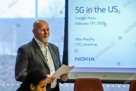 Stock Picture of Mike Murphy, CTO Americas, 5G technology presentation at Nokia Bell Labs. Nokia Bell Labs (originally called AT&T Bell Laboratories and Bell Telephone Laboratories) is an industrial research and scientific development company, a subsidiary of the Finnish company Nokia. Its headquarters are located in Murray Hill, New Jersey in the United States with other laboratories located around the world. Nokia Bell Labs has developed a series of technologies considered revolutionary, from telephone switches, telephone cables, transistors, LEDs, lasers, the C programming language and the Unix operating system.