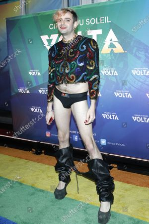 Jacob Tobia arrives at the Cirque Du Soleil VOLTA Equality Night Benefiting the Los Angeles LGBT Center, at Dodger Stadium in Los Angeles, California, USA, 13 February 2020.