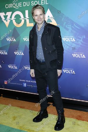 Stock Image of Michael Nardelli arrives at the Cirque Du Soleil VOLTA Equality Night Benefiting the Los Angeles LGBT Center, at Dodger Stadium in Los Angeles, California, USA, 13 February 2020.