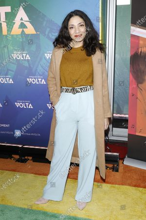 Stock Image of Jasika Nicole arrives at the Cirque Du Soleil VOLTA Equality Night Benefiting the Los Angeles LGBT Center, at Dodger Stadium in Los Angeles, California, USA, 13 February 2020.