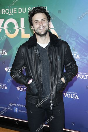Stock Image of Jack Falahee arrives at the at the Cirque Du Soleil VOLTA Equality Night Benefiting the Los Angeles LGBT Center, at Dodger Stadium in Los Angeles, California, USA, 13 February 2020.
