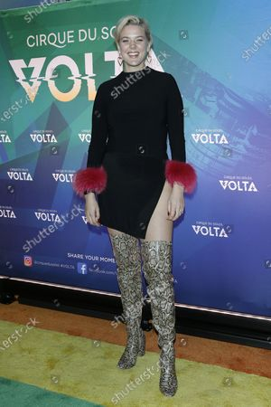Betty Who arrives at the Cirque Du Soleil VOLTA Equality Night Benefiting the Los Angeles LGBT Center, at Dodger Stadium in Los Angeles, California, USA, 13 February 2020.