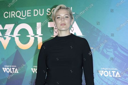 Stock Photo of Betty Who arrives at the Cirque Du Soleil VOLTA Equality Night Benefiting the Los Angeles LGBT Center, at Dodger Stadium in Los Angeles, California, USA, 13 February 2020.