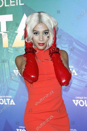 Isis King arrives at the Cirque Du Soleil VOLTA Equality Night Benefiting the Los Angeles LGBT Center, at Dodger Stadium in Los Angeles, California, USA, 13 February 2020.