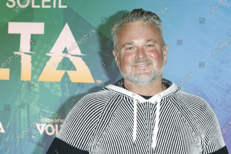 Stock Image of Sam Harris arrives at the Cirque Du Soleil VOLTA Equality Night Benefiting the Los Angeles LGBT Center, at Dodger Stadium in Los Angeles, California, USA, 13 February 2020.