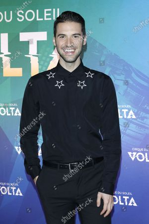Raymond Braun arrives at the Cirque Du Soleil VOLTA Equality Night Benefiting the Los Angeles LGBT Center, at Dodger Stadium in Los Angeles, California, USA, 13 February 2020.