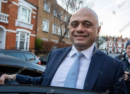 Sajid Javid leaves his home in West London this morning after resigning as Chancellor