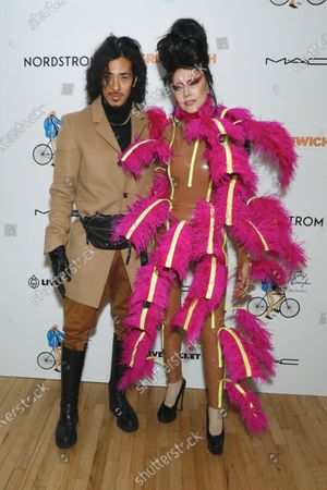 Stock Photo of Susanne Bartsch (R) and guest (L)
