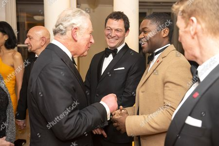 Prince Charles with Dominic West and David Oyelowo
