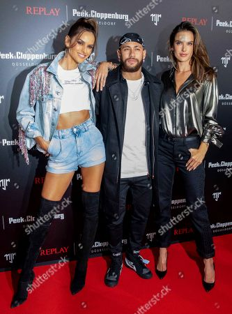 Izabel Goulart, Neymar Jr, Alessandra Ambrosio, Collection Launch of the Neymar Jr. Capsule Collection for REPLAY, Areal Boehler / Kaltstahlhalle, Duesseldorf, February 14, 2020, Photo: People Picture / Fouad