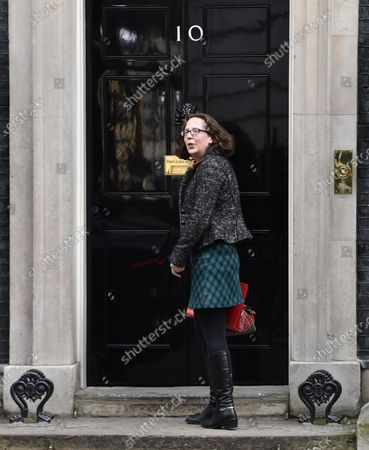 Britain's Leader of the House of Lords Natalie Evans arrives at Downing Street ahead of a cabinet meeting in London, Britain, 14 February 2020. It is the first Cabinet meeting since British Prime Minister Boris Johnson reshuffled ministerial posts on 13 February.