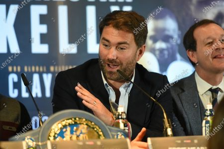 Eddie Hearn during a Press Conference at Glaziers Hall on 14th February 2020