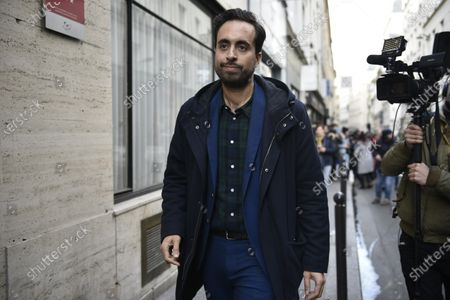 French member of Parliament Mounir Mahjoubi leaves the La Republique En Marche (LaREM) party's headquarters after a meeting to designate a new candidat for the Paris municipal election in Paris, France, 14 February 2020. According to media reports, former candidat Benjamin Griveaux has dropped his candidacy in the Paris municipal elections over publication of sexual imagery allegedly related to him on social media.