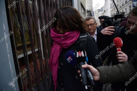 French member of Parliament Laetitia Avia leaves the La Republique En Marche (LaREM) party's headquarters after a meeting to designate a new candidat for the Paris municipal election in Paris, France, 14 February 2020. According to media reports, former candidat Benjamin Griveaux has dropped his candidacy in the Paris municipal elections over publication of sexual imagery allegedly related to him on social media.