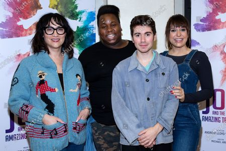 Stock Image of Eden Espinosa, Alex Newell, Noah Galvin, Jessica Vosk