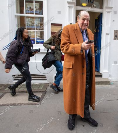 Former MP Sir Nicholas Soames gets caught up as Student climate change strikers demonstrate on the streets of Westminster to protest against the Governments's lack of action on the climate crisis.