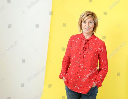 Edie Falco is seen at Edie Falco portrait session at AP Studios, in New York