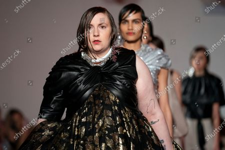 Stock Picture of US actress Lena Dunham presents a creation during the 16Arlington show at London Fashion Week in London, Britain, 14 February 2020.