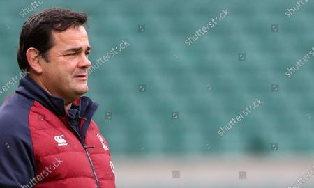 Stock Image of Will Carling watches England Training
