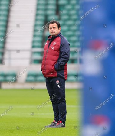 Stock Photo of Will Carling at England training