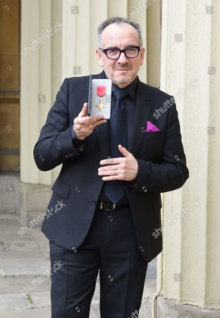 Declan Patrick MacManus, better known by his stage name Elvis Costello, receives an OBE for Services to Music