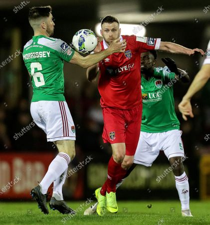 Cork City vs Shelbourne. Shelbourne's Ciaran Kilduff and Gearoid Morrissey of Cork City