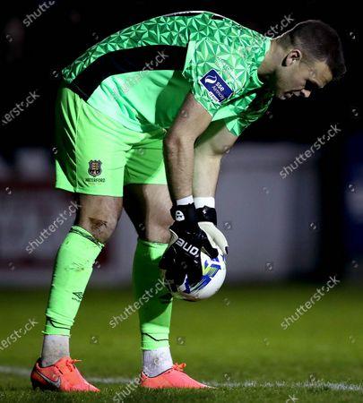 St. Patrick's Athletic vs Waterford. Waterford goalkeeper Brian Murphy