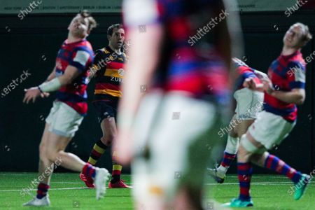Lansdowne vs Clontarf. Lansdowne's Craig Robinson kicks the winning conversion