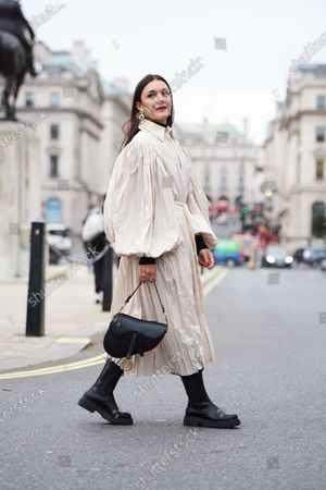 Editorial picture of Street Style, Fall Winter 2020, London Fashion Week, UK - 14 Feb 2020