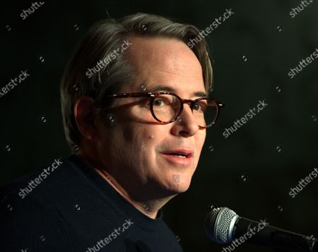 US actor Matthew Broderick talks about his role in the Neil Simon play, 'Plaza Suite,' during a ceremony to unveil two plaques in honor of Simon at the Emerson Colonial Theater in Boston, Massachusetts, USA, 14 February 2020. Broderick and his wife, Sarah Jessica Parker, are currently starring in the Simon play 'Plaza Suite,' at The Emerson Colonial Theater, where Simon often debuted his plays, before opening on Broadway in March of this year.