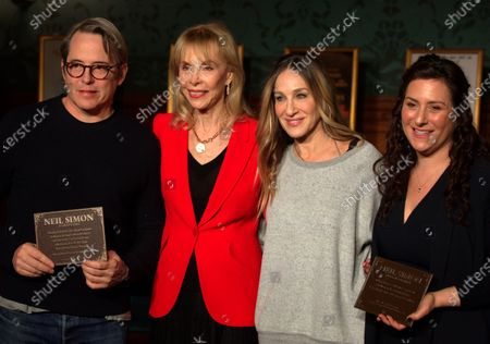 Editorial image of Matthew Broderick and Sarah Jessica Parker honor Neil Simon in Boston, USA - 14 Feb 2020