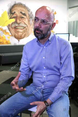 The director of investigations of the Colombian magazine Semana, Ricardo Calderon Villegas, speaks during an interview at the newsdesk in Bogota, Colombia, 14 February 2020. Villegas feels that the King of Spain Ibero-American Journalism Prize that was awarded this Friday for a crucial research work on the cover-up in the Army honors the essence of the job. Calderon and his team, formed by Jaime Florez Suarez, Johanna Alvarez Quintero, Jose Guarnizo Alvarez and Jose Monsalve, were the winners of the Prize for the feature 'Operation Silence', a work that revealed threats and pressures to the military who denounce the 'false positive' controversies, published by Semana on 23 June 2019.