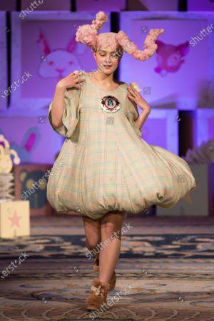 Maddie Mills on the catwalk