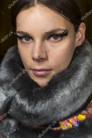 Stock Image of Model backstage