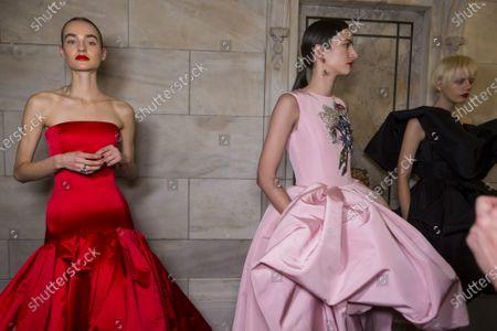 Editorial picture of Oscar De La Renta show, Backstage, Fall Winter 2020, New York Fashion Week, USA - 10 Feb 2020