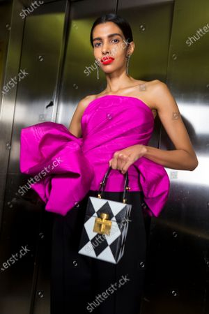 Stock Picture of Pooja Mor backstage