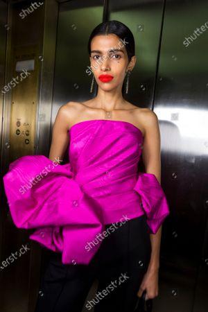 Editorial image of Oscar De La Renta show, Backstage, Fall Winter 2020, New York Fashion Week, USA - 10 Feb 2020