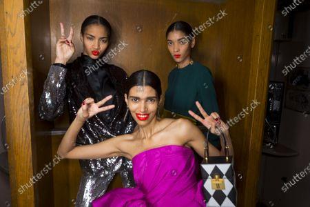 Pooja Mor and models backstage