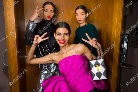 Stock Photo of Pooja Mor and models backstage