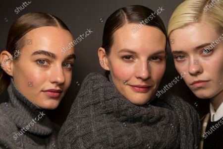 Maartje Verhoef and models Backstage