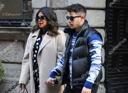 Editorial picture of Nick Jonas and Priyanka Chopra out and about, Milan, Italy - 14 Feb 2020